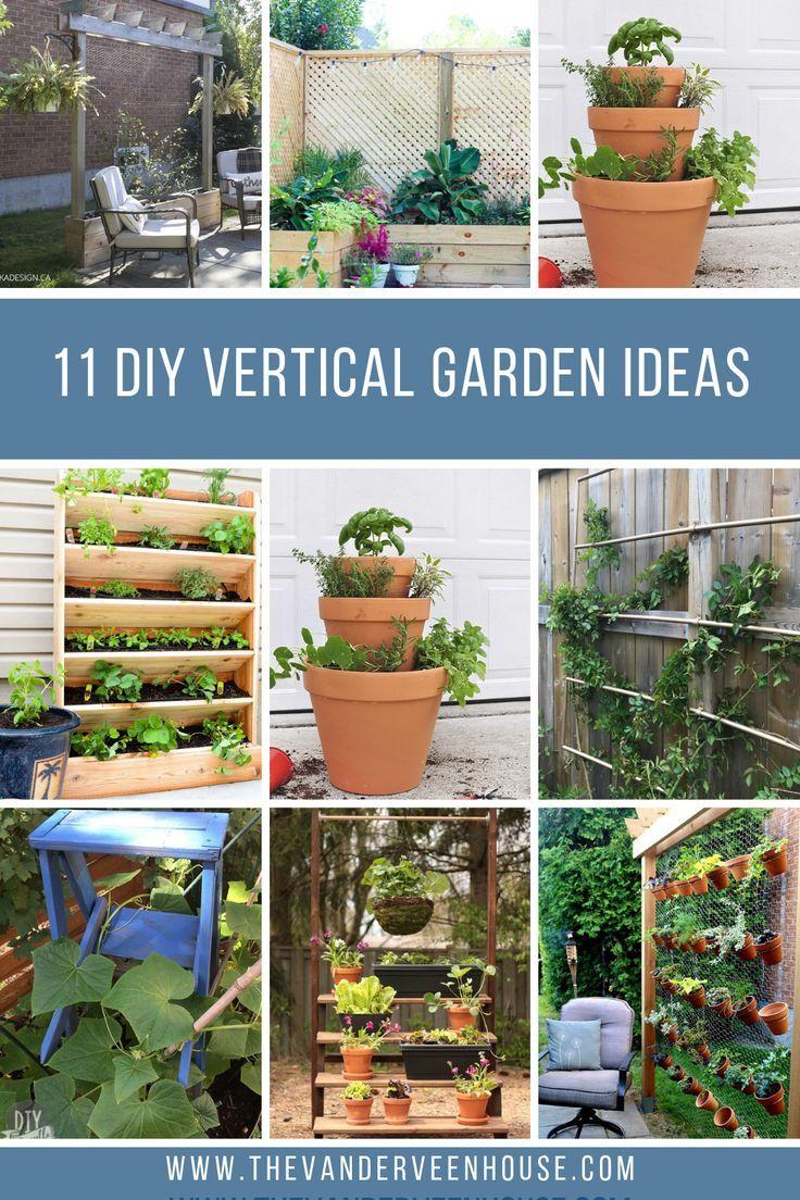 11 Amazing Diy Vertical Garden Ideas Vertical Garden Diy Vertical Vegetable Gardens Vertical Container Gardening