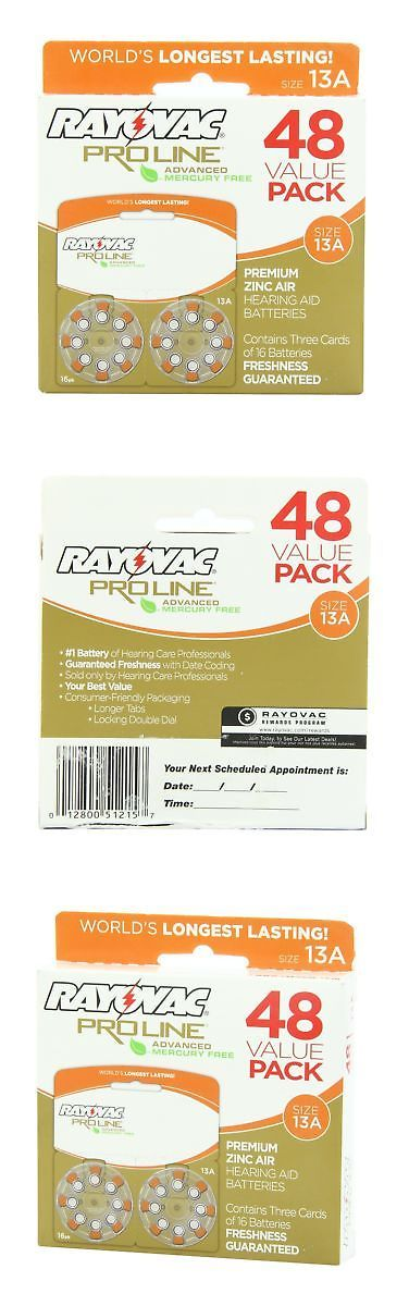 Hearing Assistance: Rayovac Proline Advanced Hearing Aid Batteries Size 13A (48 Pack) -> BUY IT NOW ONLY: $34.9 on eBay!