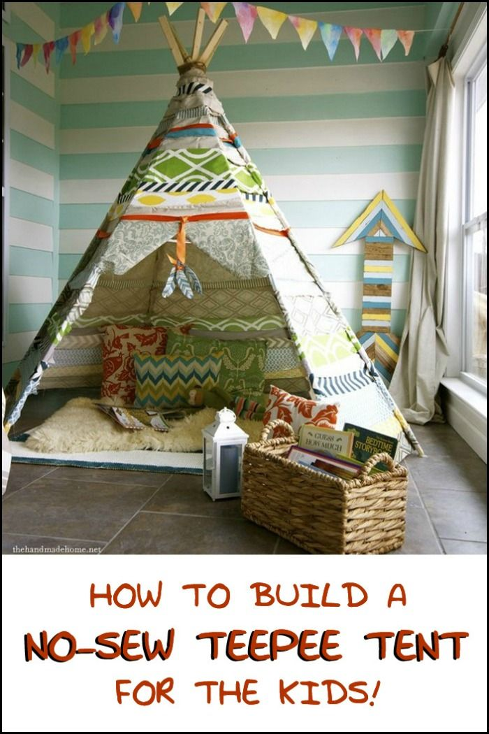 1000 ideas about no sew teepee on pinterest summer diy diy teepee and diy tent. Black Bedroom Furniture Sets. Home Design Ideas