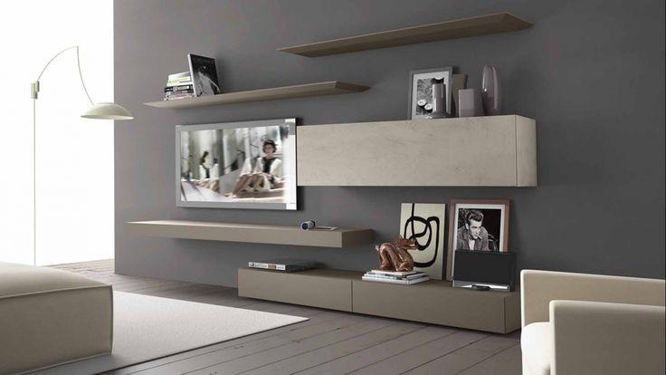 inclinART modulární nábytková sestava s policemi ve světlých tónech / living room furniture