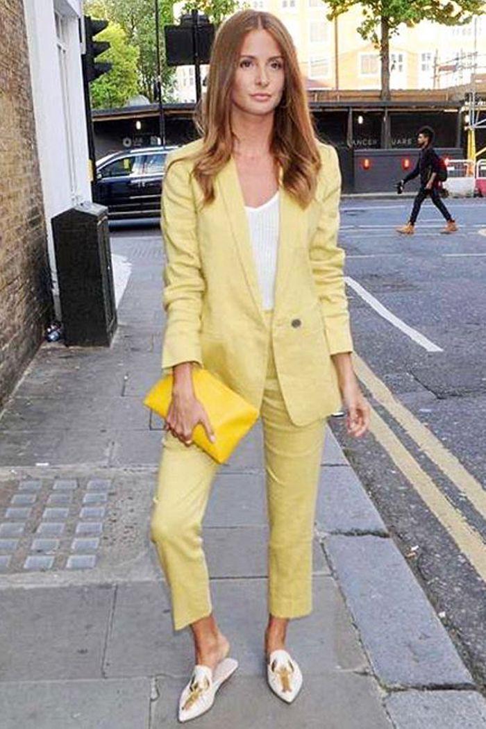 2801977ab5c Celebrities wearing high street  Millie Mackintosh wearing Jigsaw suit