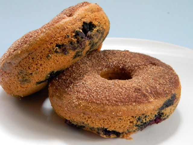 Eat Good 4 Life » Blueberry Whole Wheat Baked Donuts Zelfgemaakte donuts met blauwe bessen