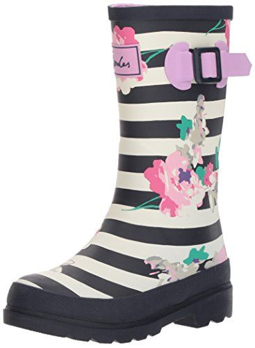 Joules Kids' Jnrgirlswly Rain Boot - Wellies that make wet weather amazing! kit out your little ones and get them outside at the first sound of 'pitter patter'. paired with our welly socks there's no better way to make a splash.