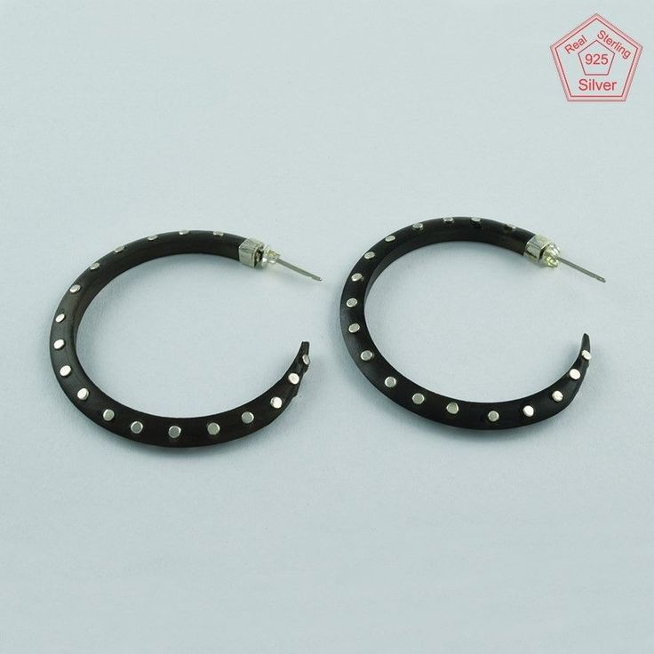 Beautiful Real Solid 925 Sterling Dotted Wooden Chandelier Earrings E3628 #SilvexImagesIndiaPvtLtd #Chandelier