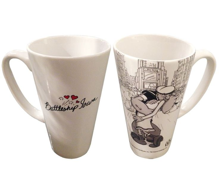 Popeye & Olive Oyl Kiss Latte Mug