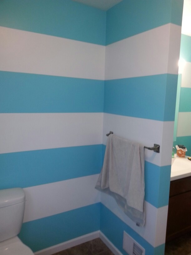 Web Image Gallery Sherwin Williams Belize blue and white striped bathroom walls