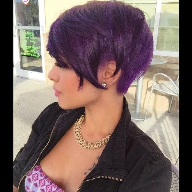 Purple colors for short hair!
