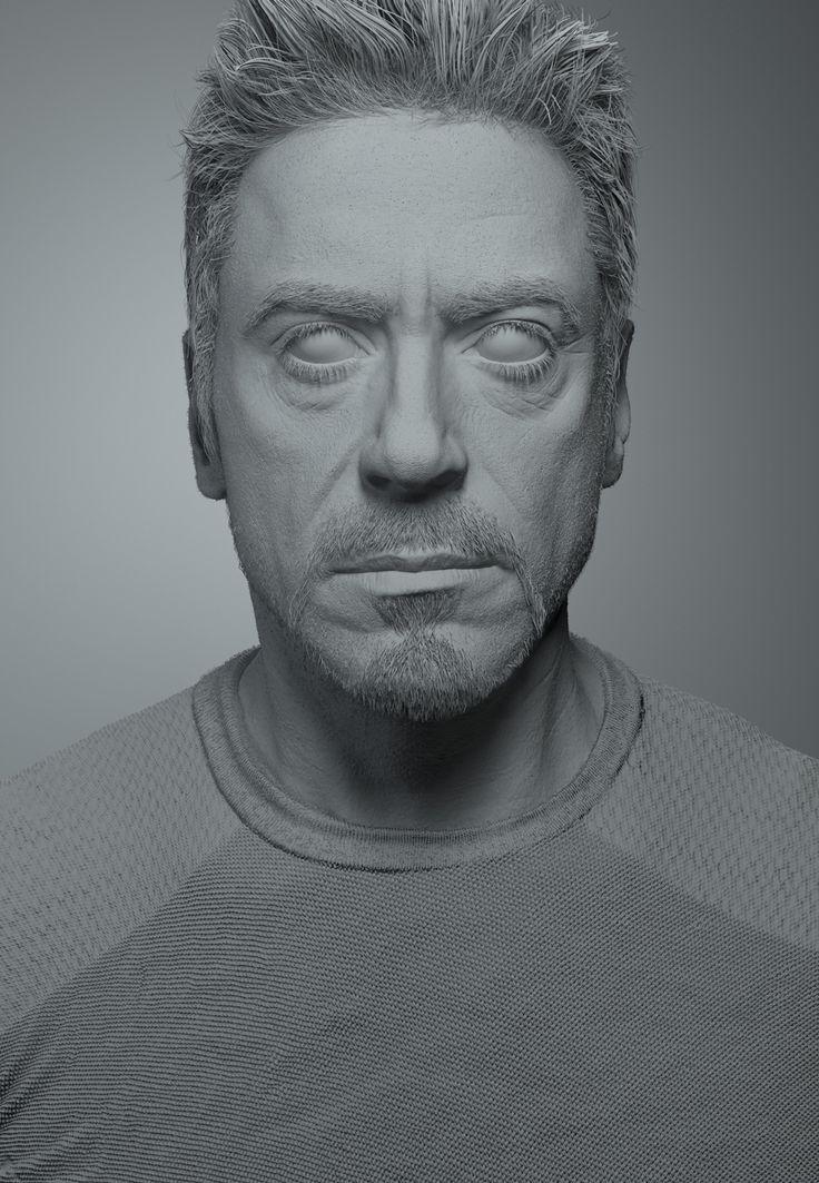 Realistic CG portrait of Robert Downey Jr ( Ironman ) - CGFeedback