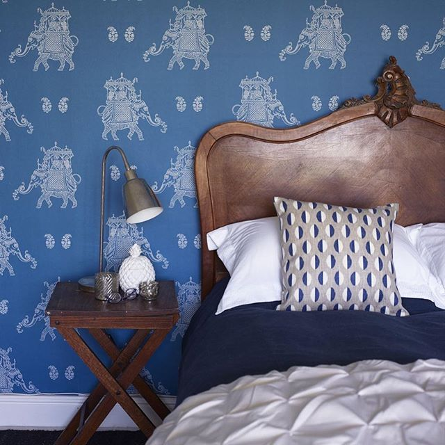 Our Lovely Ophelia Wallpaper Design In Cool And Calm Kingfisher Blue.