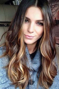 Can't decide if I want to do a brunette into blonde ombre or a dark blonde into bright blonde ombre!