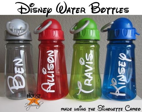 How to Make Disney Font Water Bottles. Perfect to take to Disney World and Disneyland.