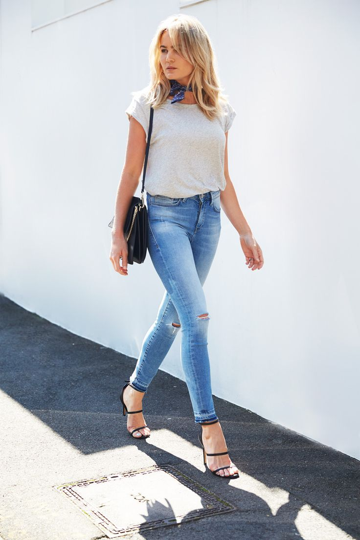 Denim and a classic tee | @
