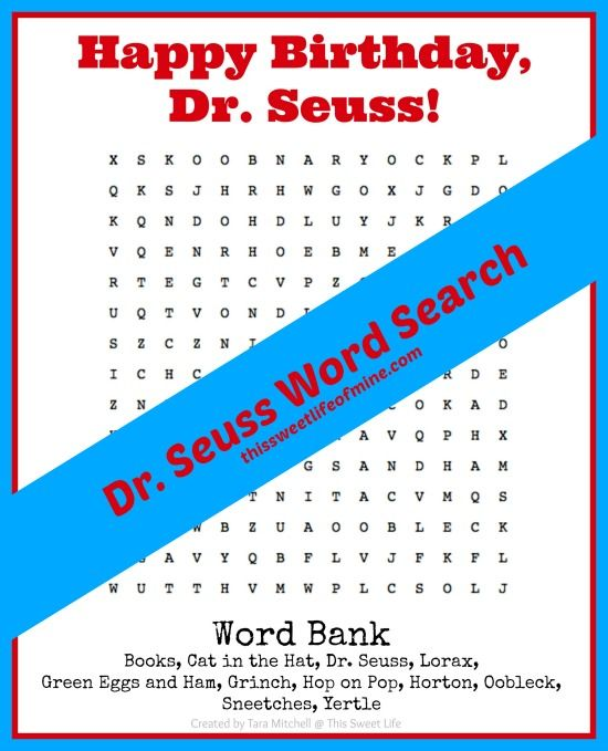 photo relating to Dr. Seuss Word Search Printable titled Dr Text Track record