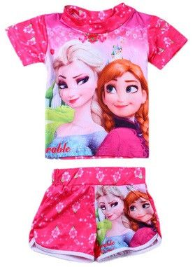 Girls Elsa Anna Shirt + Shorts Combo
