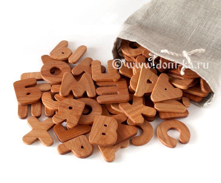 Деревянный алфавит русский