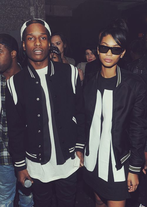 A$AP Rocky & Chanel Iman. This would be a hot couple i'm just saying.