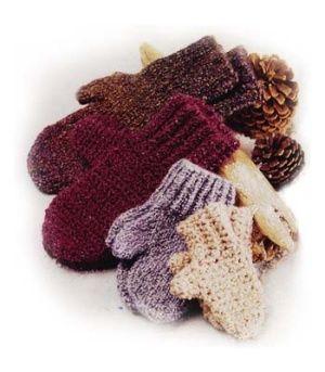 Family of Mittens - free crochet pattern