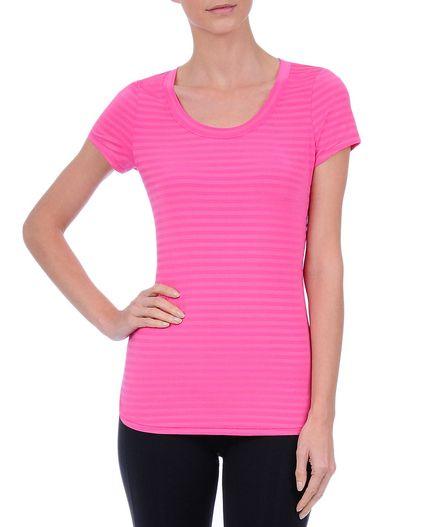 Women's Training Mix & Match Metallic U-Neck T-Shirt : Women's Activewear TEES & TANKS | Danskin