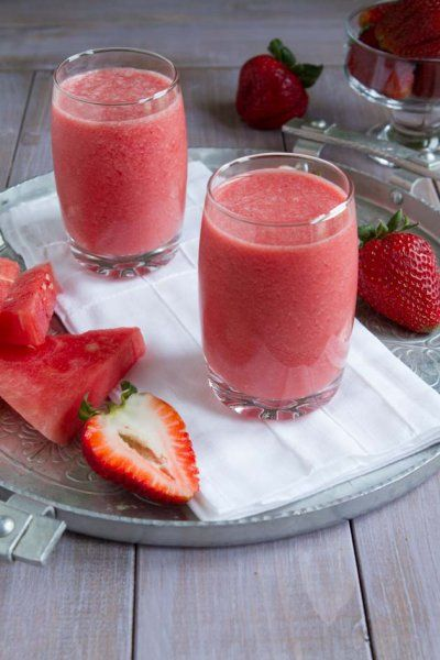 Watermelon Smoothie Cooler by Healthful Pursuit