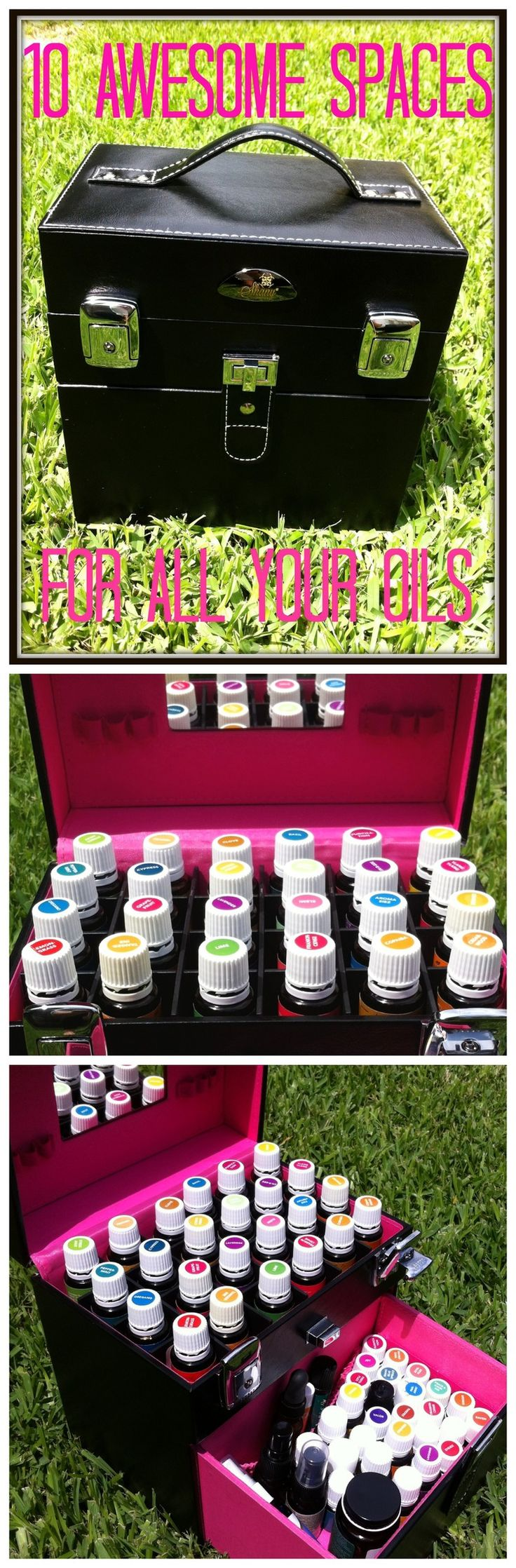 10 different carrying cases or shelves for your essential oils.