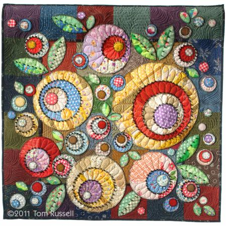 scrapbag bouquet - Tom Russell Quilts - beautiful applique quilt