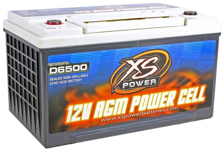 XS Power D6500 3900 Amp AGM Power Cell Car Audio Battery + ...