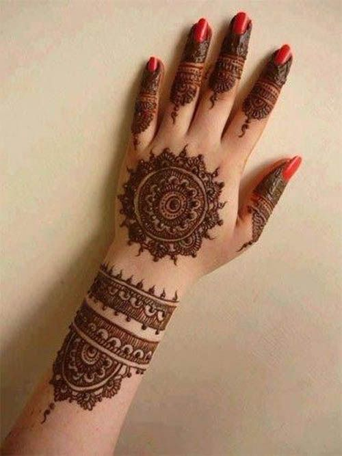9 Cute and Easy Round Mehandi Designs with Pictures https://www.facebook.com/nikhaarfashions