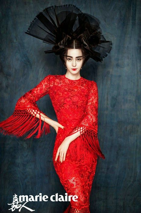 World Country Magazines: Fan Bingbing by Chen Man for Marie Claire, China, January 2015