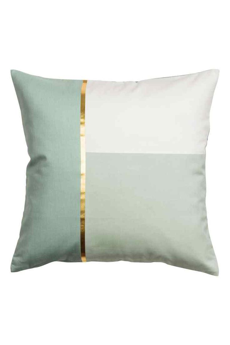 Block-coloured cushion cover - Dusky green - Home All | H&M GB