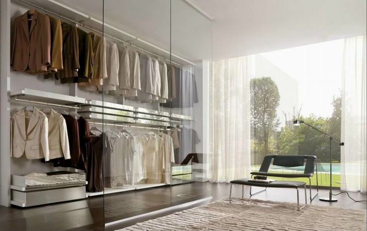 LA FALEGNAMI - Walk in closet - Minimal white lacquer and mirrors