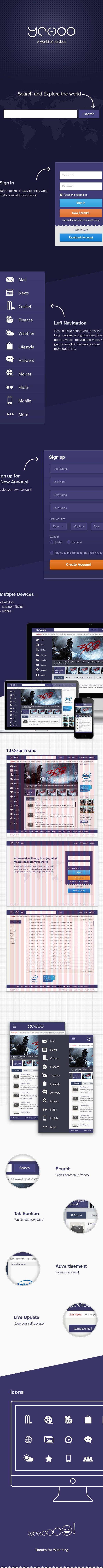 Yahoo Redesign by Mani Bharathi, via Behance