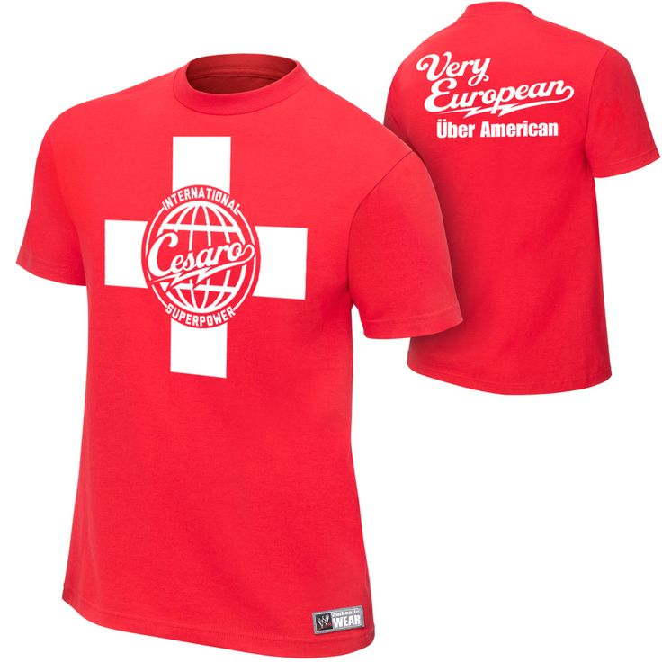 "Antonio Cesaro ""Very European, über American"" Authentic T-Shirt - #WWE"