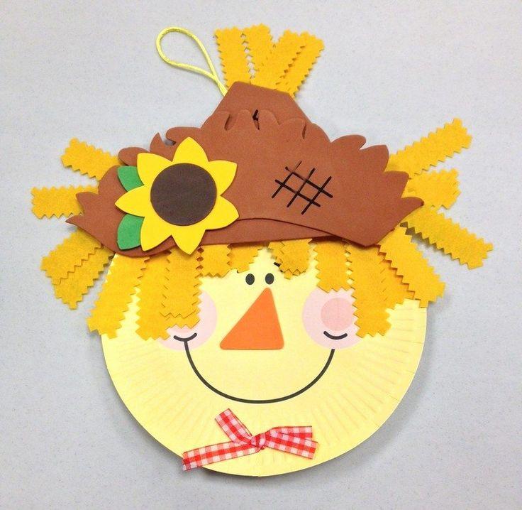 bricolage pour enfant avec papier | bricolage pour enfants original d'automne - un épouvantail amusant en ...