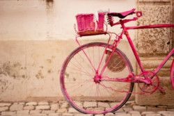 I would ride this bike!: Bicycles, Pink Bicycle, Pink Bike, Vintage, Things, Pretty, Photography