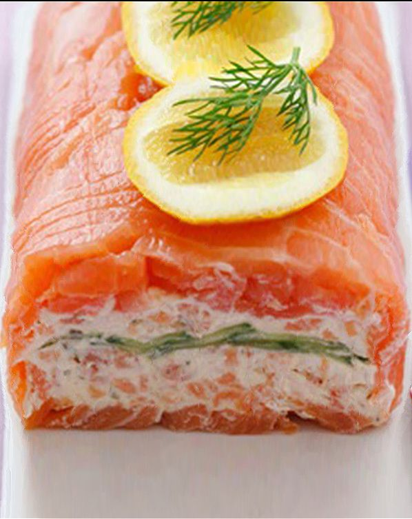 Smoked Salmon Rolls with Yoghurt Filling - No cook recipe: just roll up delicious smoked salmon, silky Greek yoghurt with crunchy cucumber slices as afternoon treat.