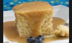 Le p'tit gâteau de chez St-Hubert avec sa sauce au sucre à la crème