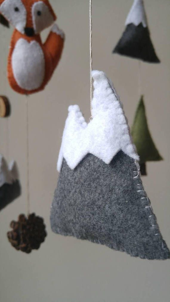 Fox Baby Mobile    Mountain Baby Mobile    Woodland Nursery    Baby Boy Mobile    Felt Mobile    Woodland Mobile   Outdoor Adventure Nursery This is a made to order item! And I guarantee shipment within 10 days of purchase, if you need to rush an order for any reason or would like
