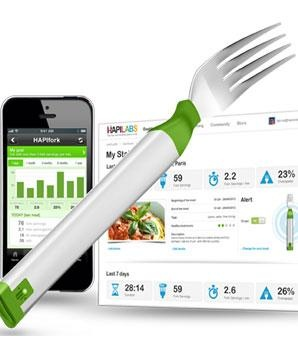A fork that tells you when you've eaten too much? Yup, it exists!