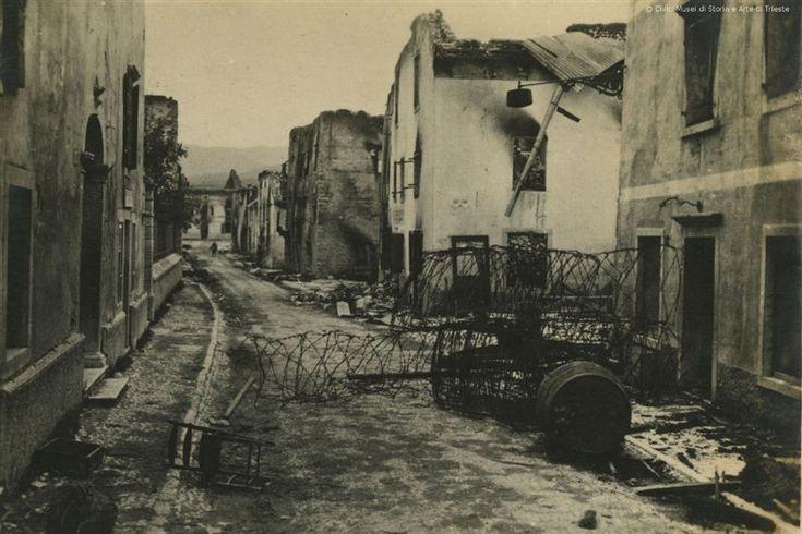 Città d'Asiago distrutta durante la Strafexpedition. Ciò che resta di Asiago dopo il passaggio degli austro-ungarici il 28 maggio 1916