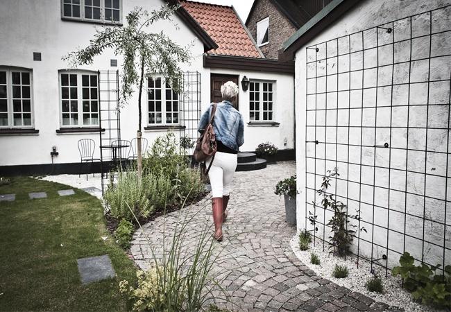 Daniella Witte: FÖRVÄNTNINGAR......    flowers/plants, pathway.. and the trellis!!