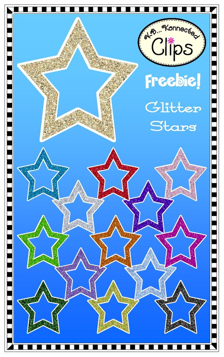 Bilingual dolphin counting card 6 clipart etc - Freebie 14 Glitter Stars Outlined In White Cu Ok See Terms In