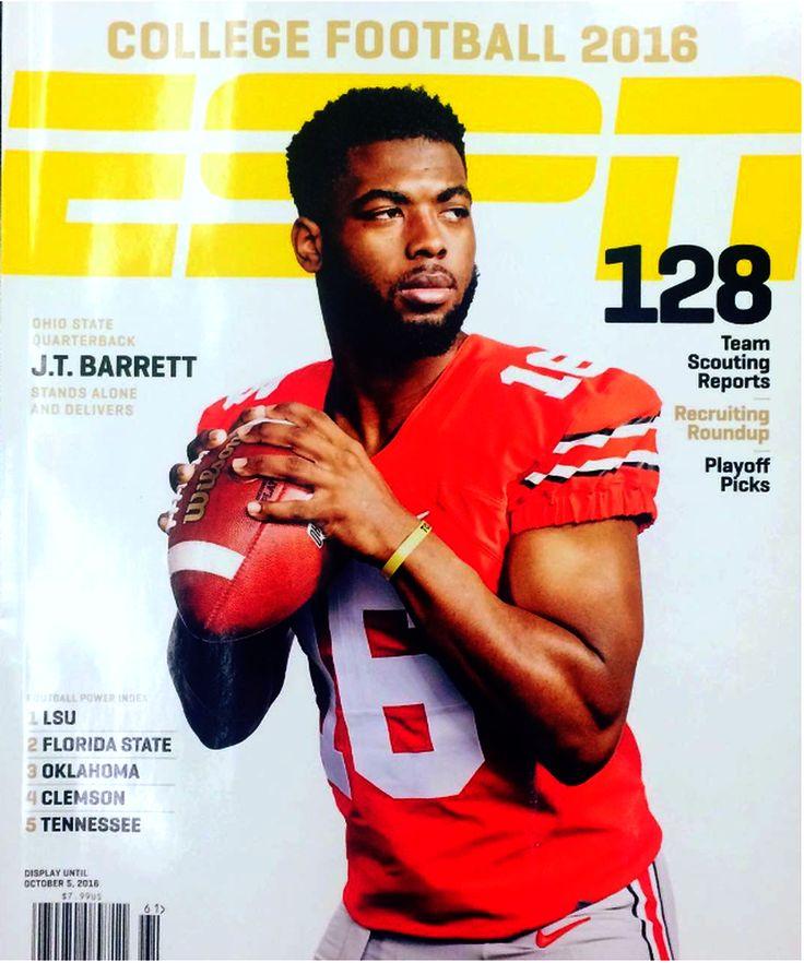 6-4-2016 ESPN THE MAGAZINE 2016 COLLEGE FOOTBALL PREVIEW COVER #16 J.T. BARRETT QB.
