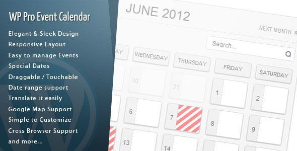 Wordpress Pro Event Calendar - This is possibly the best Events Calendar I have seen for WordPress.