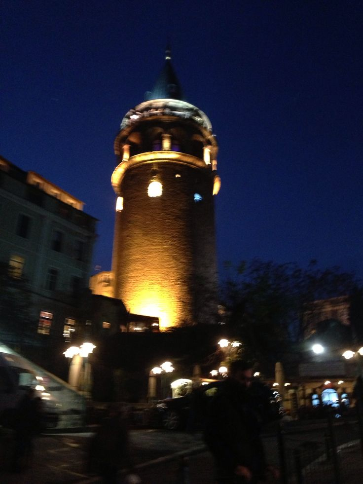 #galatas #tower #center #istanbul #night #tourists #sightseeing