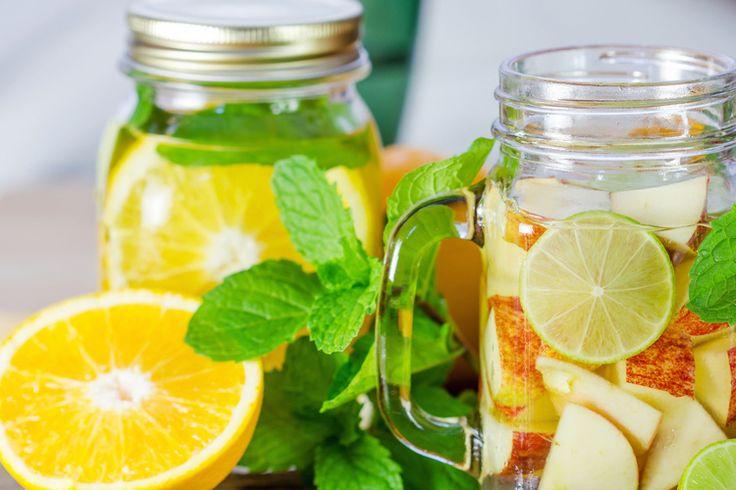 Detox water Limoen, Appel en Mint