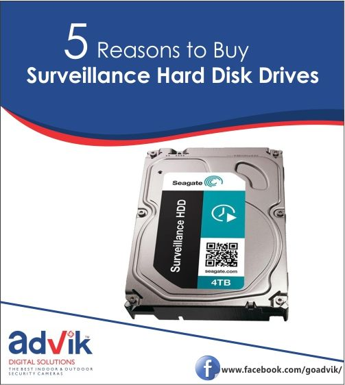 5 Reasons to Buy #SurveillanceHardDisk Drives !!! There are numerous storage drives available for various purposes in the market. Consequently, users find it difficult to choose which to opt. It is the engineering of the drive of the makes all the difference when making a decision. Here are 5 Reasons you should to buy #Surveillance #HardDisk Drives... Read more at: https://goo.gl/OnVbJa