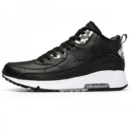 361 férfi sportcipő férfi és bársony meleg téli cipő 361 fokos cipő fekete