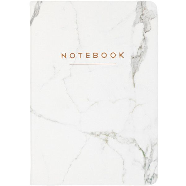 Eccolo Style Journal Marble Notebook (€15) ❤ liked on Polyvore featuring home, home decor, stationery and nocolor