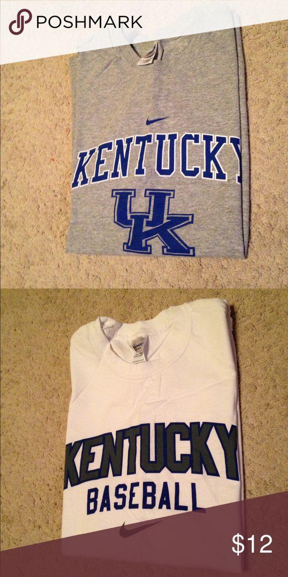 Two UK Baseball Nike T shirts . Short sleeves Nike UK Baseball T shirts.  Size Large. Nike Shirts Tees - Short Sleeve