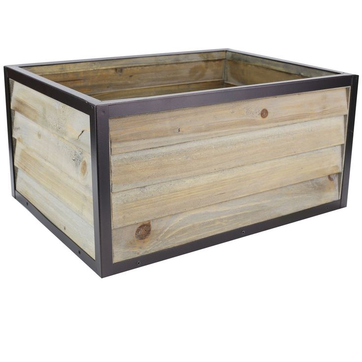 Get the Extra Large Wooden Crate with Metal Frame By Ashland® at Michaels.com. This wooden crate by Ashland features a simple design, and is perfect to enhance your rustic decor.
